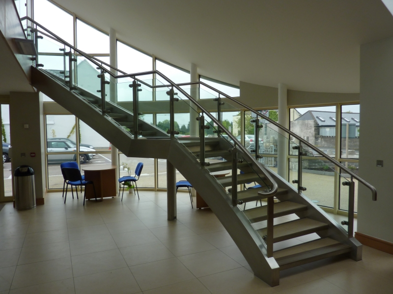 Superior ... Curved Stainless Stairs Timber Steps ...