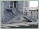 Galvanised balustrade to stairs