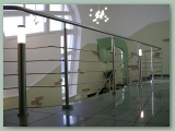 Stainless Rod Balustrade to Mezzanine