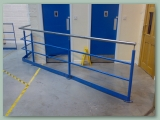 Barrier with Stainless Handrail