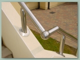 Stainless Handrail on Wall
