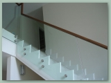 Glass with Timber Handrail